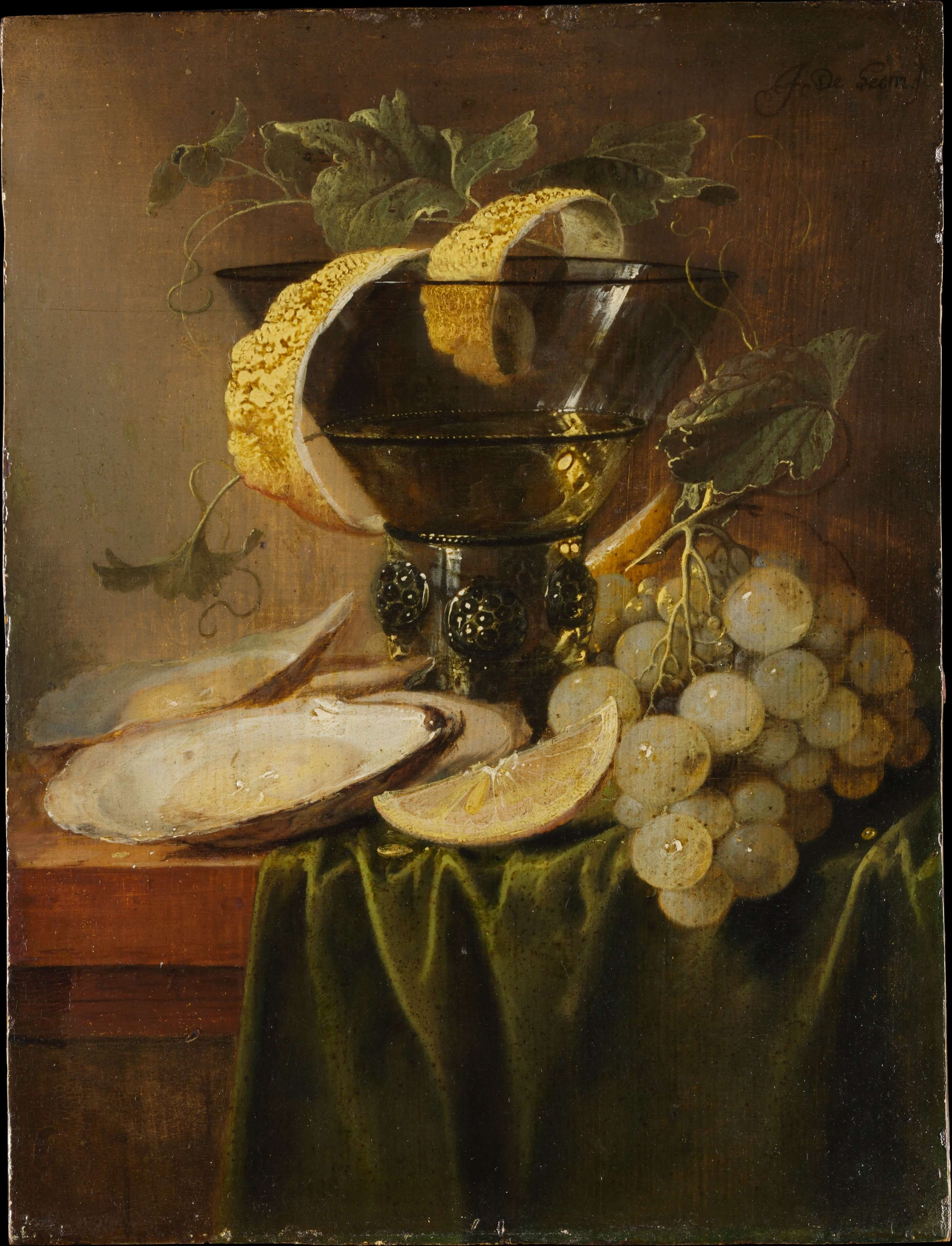 Still Life with a Glass of Oysters by Jan Davidsz de Heem Dutch Golden Age