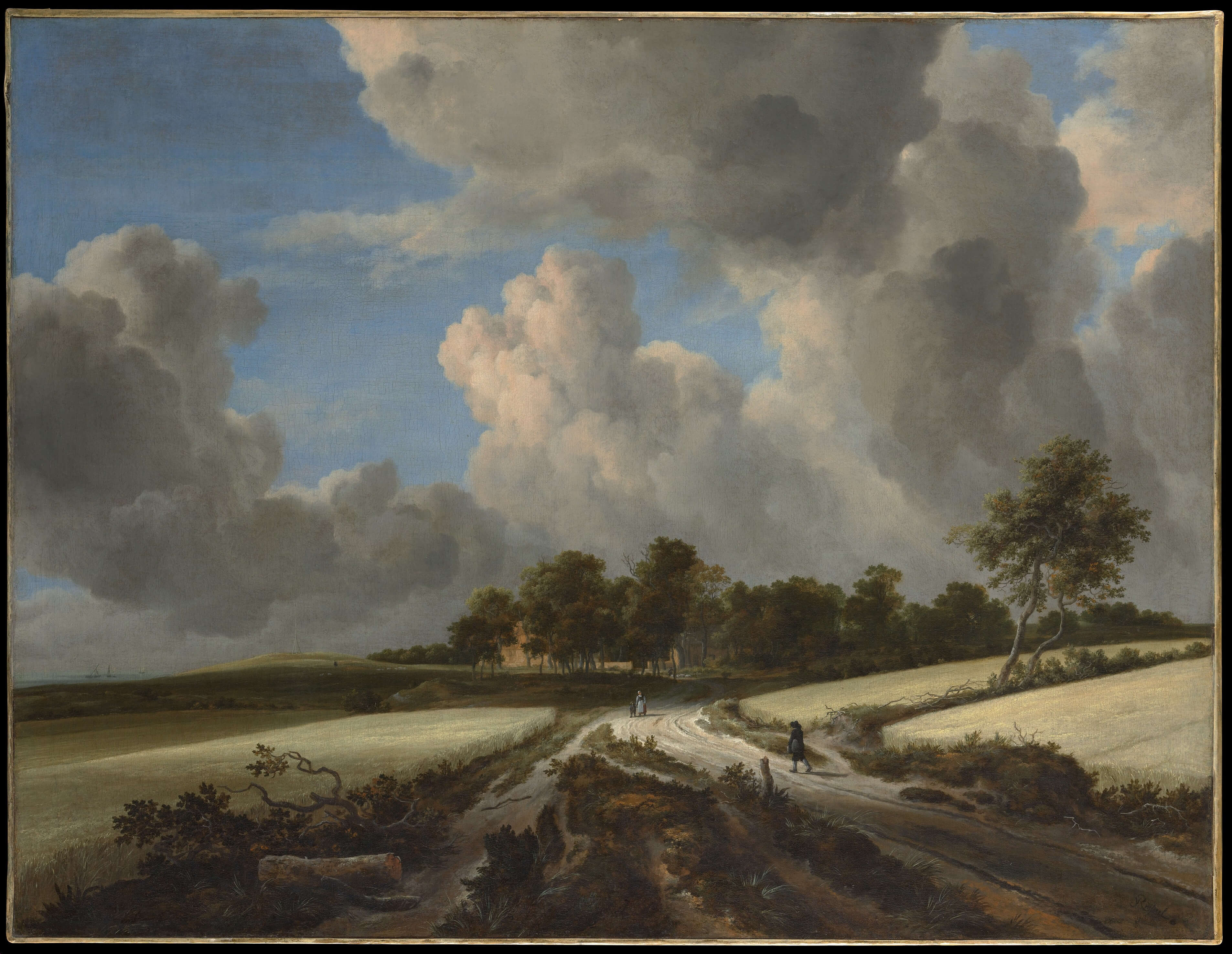 Wheat Fields by Jacob van Ruisdael