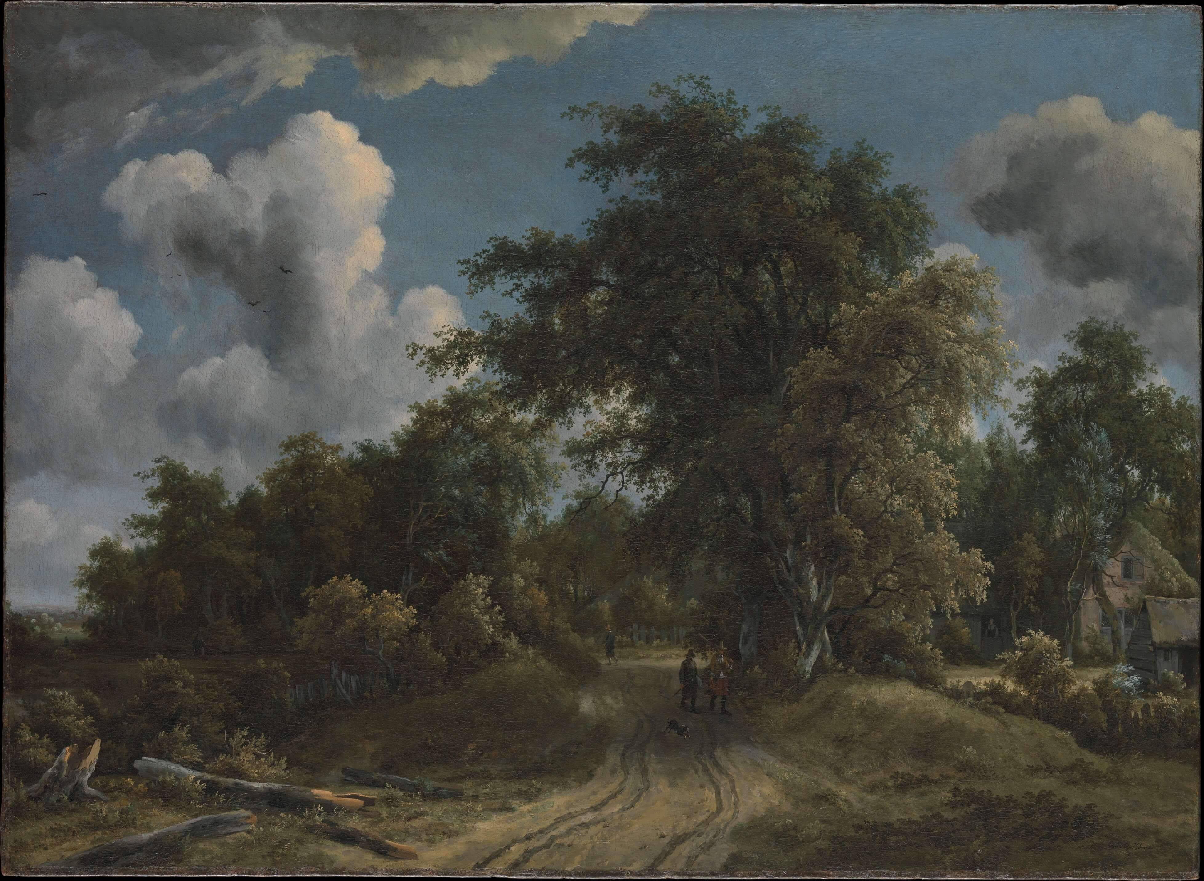 Woodland Road by Meyndert Hobbema Dutch Golden Age