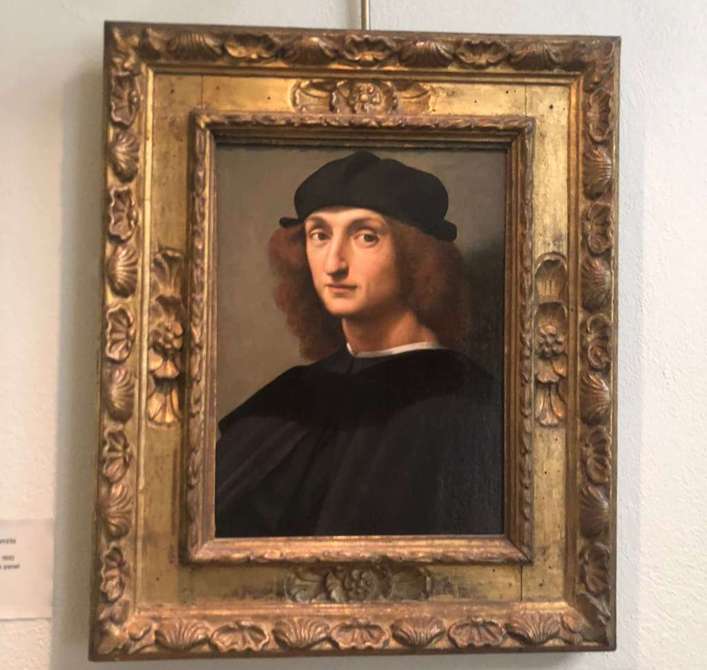Attributed to Raphael Sanzo, Potrait of a Young Man, c. 1510. The Hyde Collection, Glens Falls, NY.