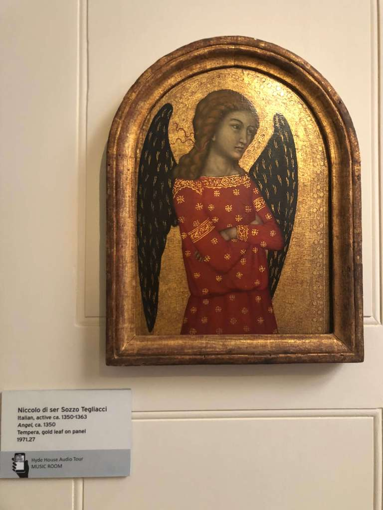 Niccolo di ser Sozzo Tegliacci, Angel, c. 1350. The Hyde Collection, Glens Falls, NY.