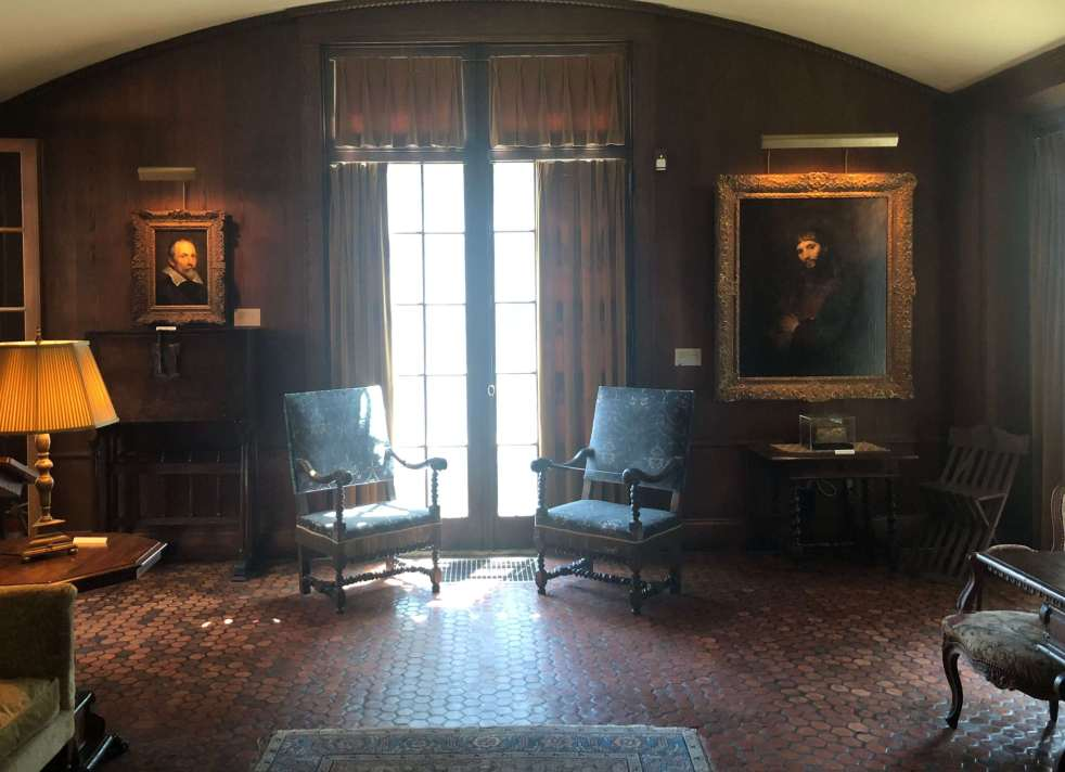 Hyde House library - Van Dyck and Rembrandt