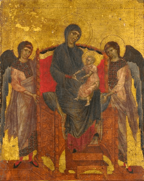 Cimabue The Virgin and Child With Two Angels