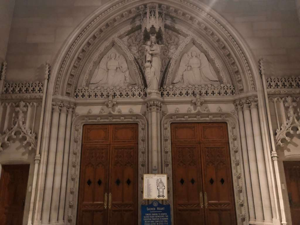 Interior portal in the narthex - Cathedral Basilica of the Sacred Heart, Newark, New Jersey