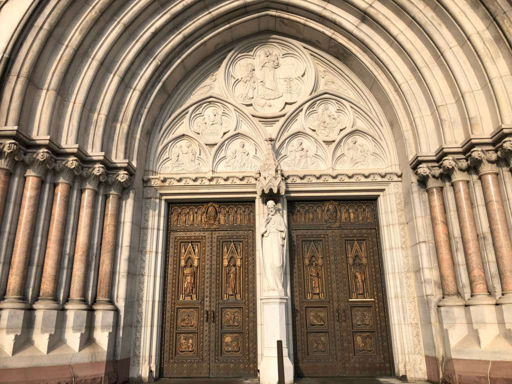 Central portal - Cathedral Basilica of the Sacred Heart, Newark, New Jersey