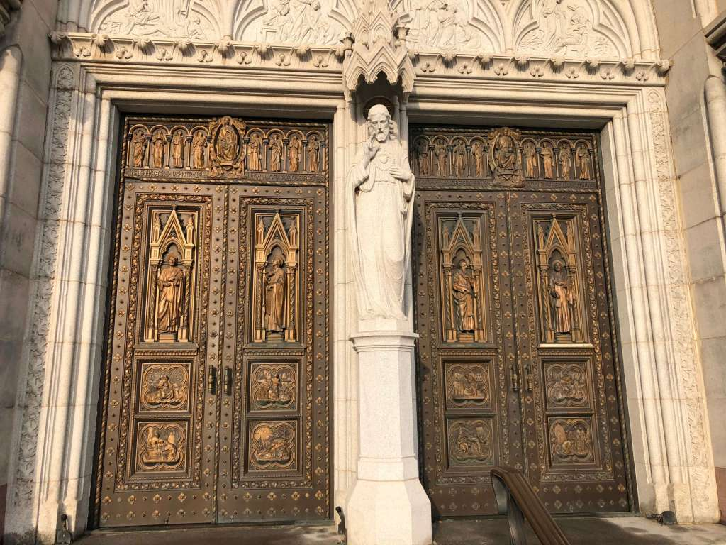 Front doors - Cathedral Basilica of the Sacred Heart, Newark, New Jersey