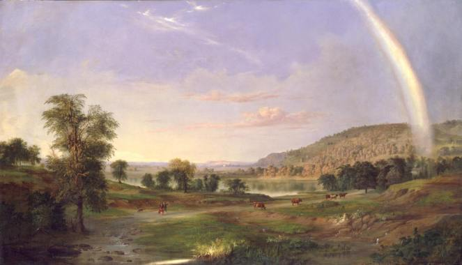 Landscape with Rainbow by Robert Duncanson