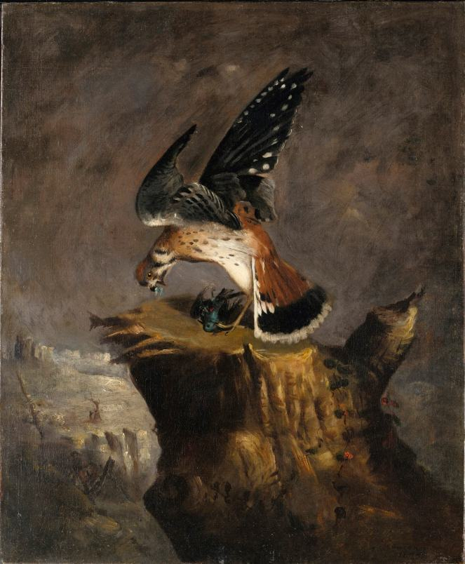 Vulture and Its Prey by Robert Duncanson