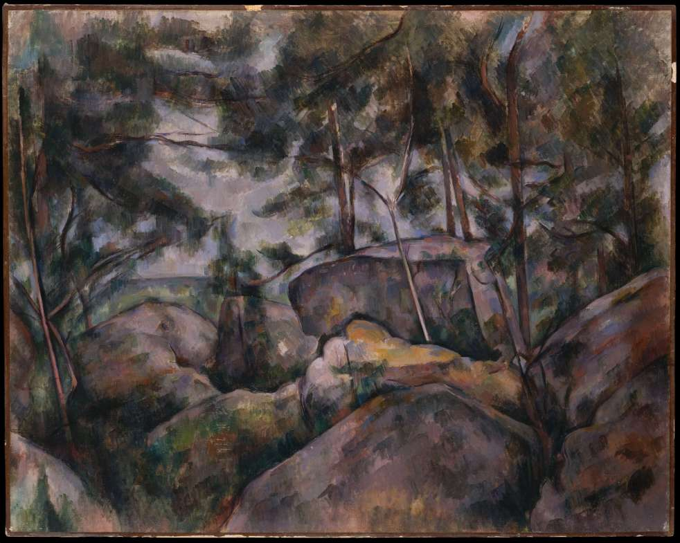 Paul Cezanne, Rocks at Fontainebleau
