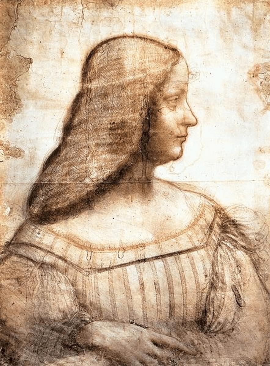 Portrait of Isabella d'Este by Leonardo da Vinci