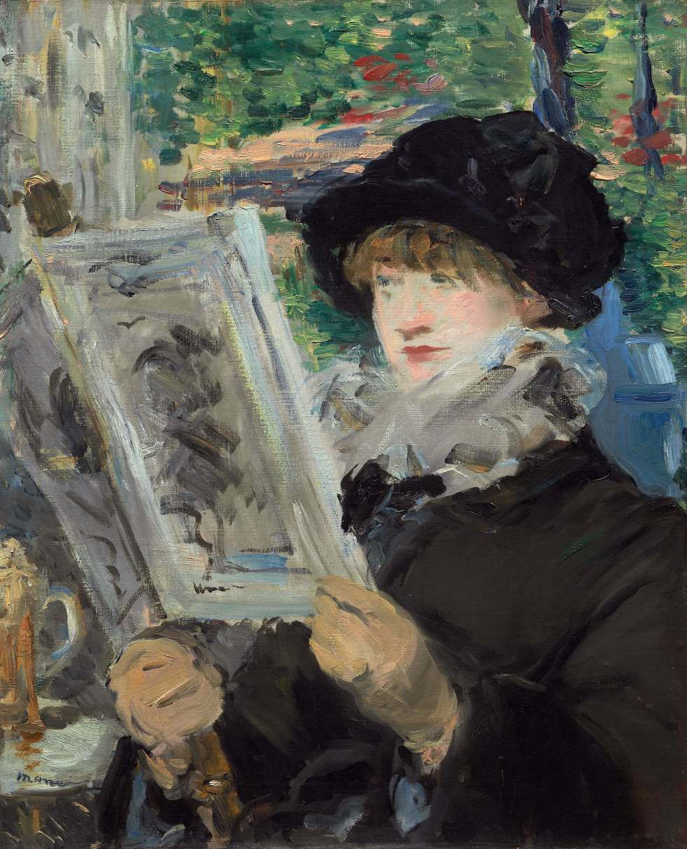 Woman Reading by Edouard Manet