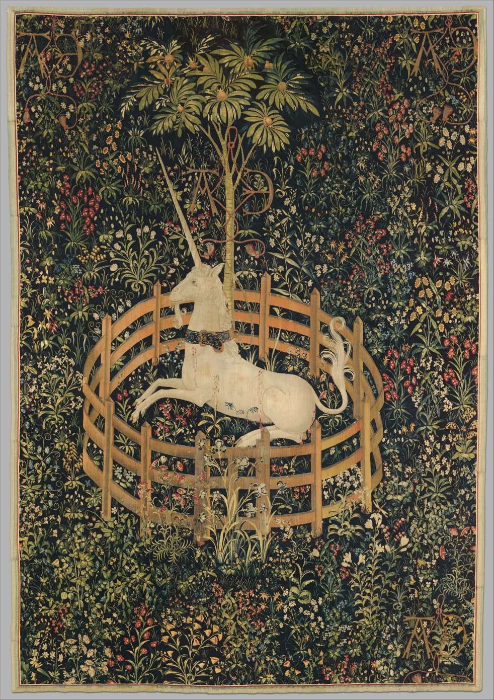 The Unicorn Rests in a Garden (from the Unicorn Tapestries)