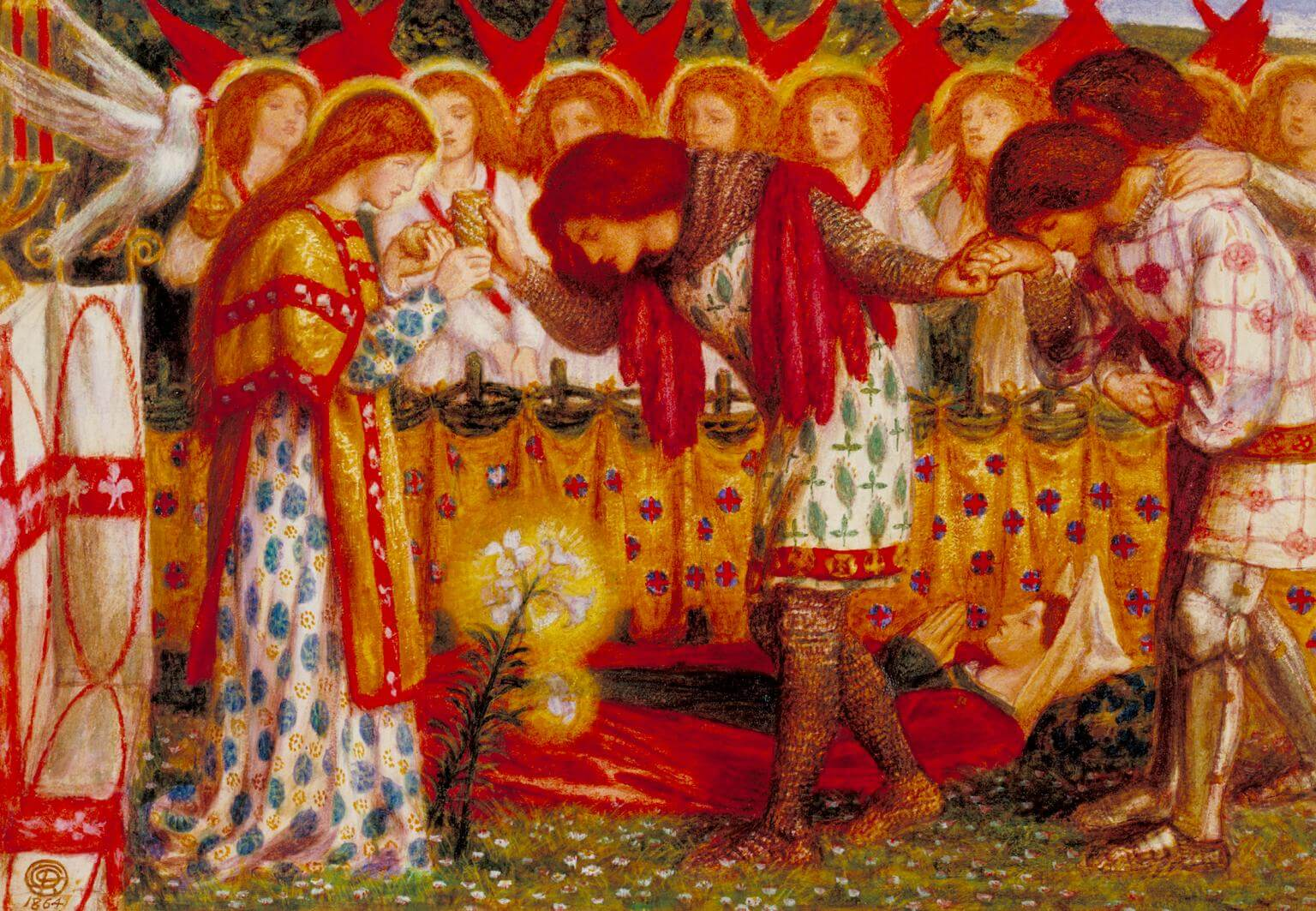 Sir Galahad, Sir Bors and Sir Percival by Dante Gabriel Rossetti knights