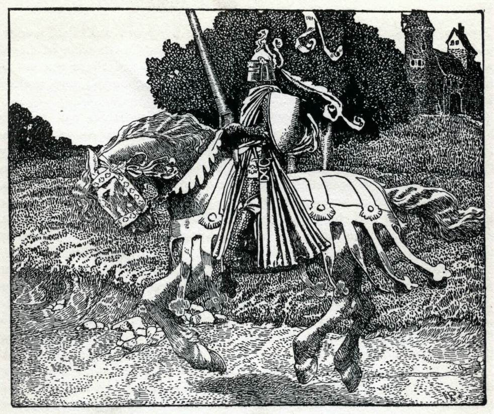 Mounted Knight by Howard Pyle knights