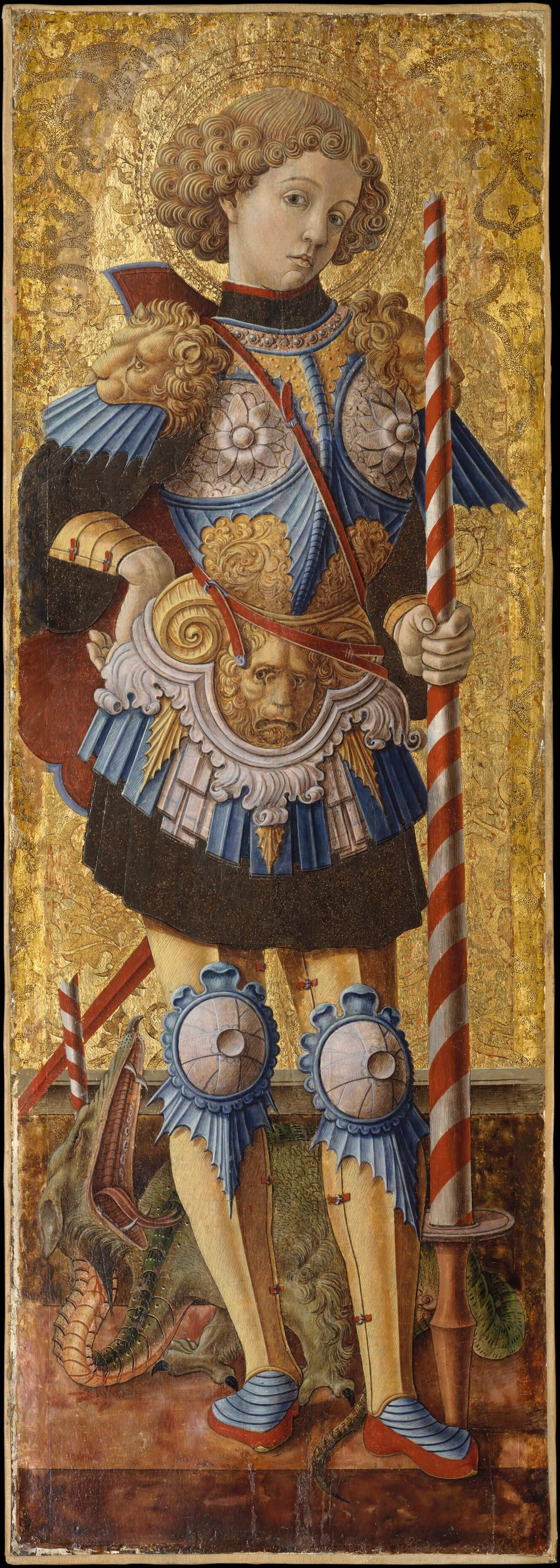 Saint George by Carlo Crivelli knight