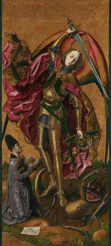 Saint Michael triumphant over the Devil with the Donor Antonio Juan