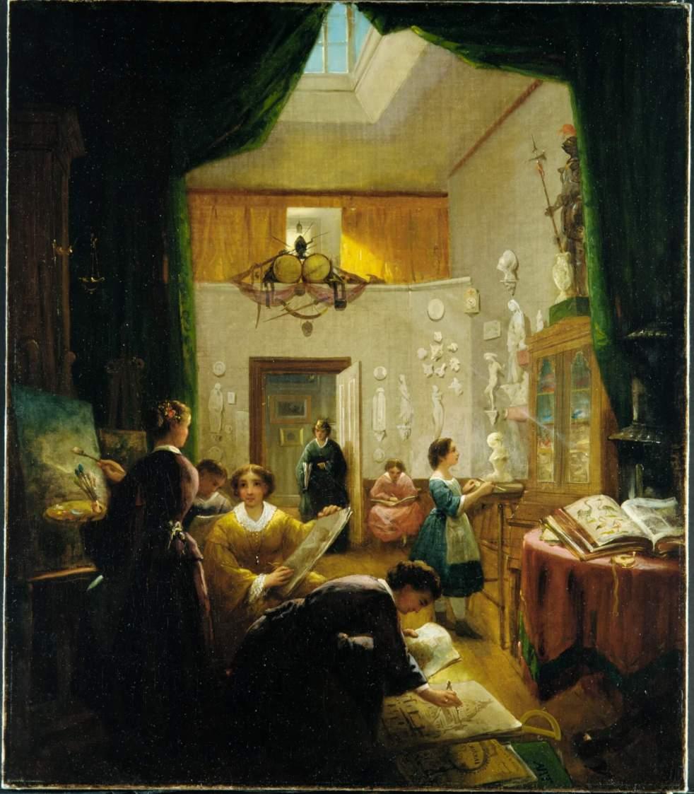 Women's Art Class by Louis Lang