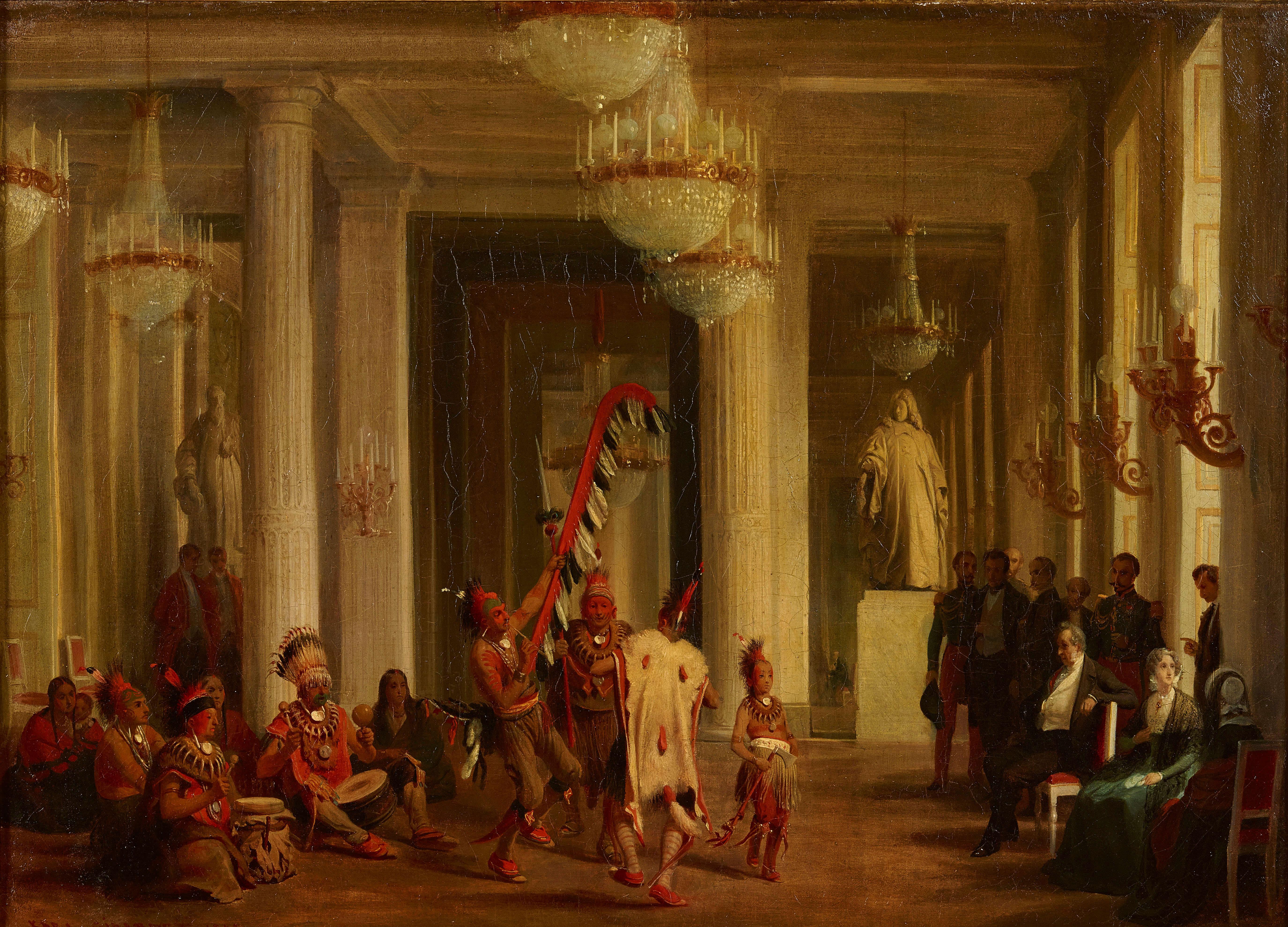 Karl Girardet, Dance of the Iowa Indians