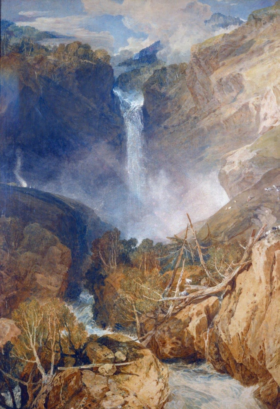 The Great Falls of the Reichenbach by Turner