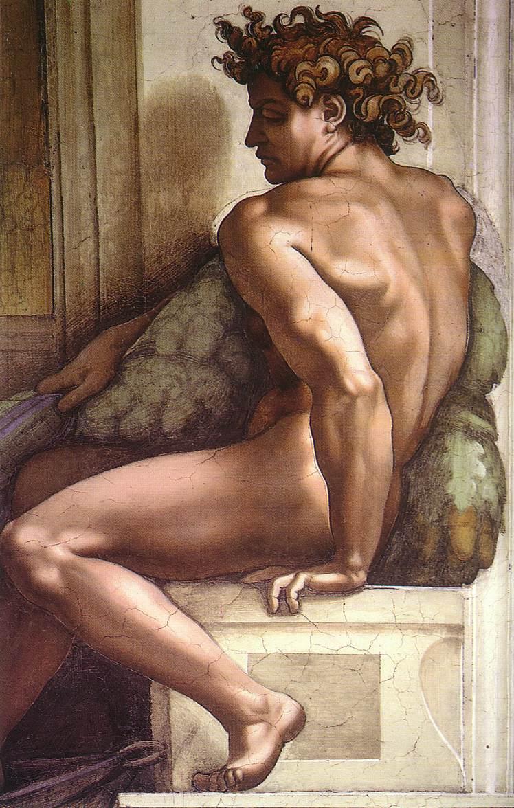 Michelangelo Sistine Ceiling Ignudo