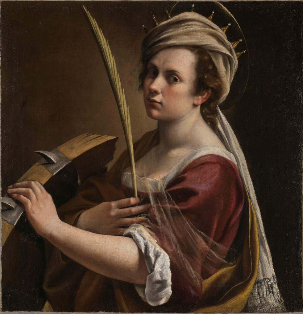 NG6671 Artemisia Gentileschi Self Portrait as Saint Catherine of Alexandria