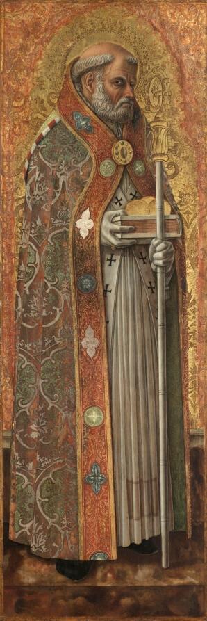 Carlo Crivelli, St. Nicholas of Bari, Cleveland Museum of Art