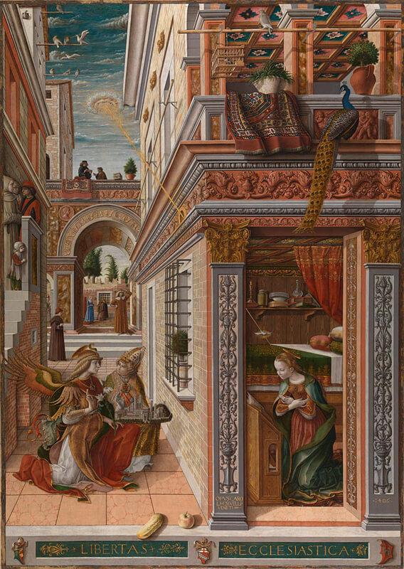 Carlo Crivelli, The Annunciation with Saint Emidius, National Gallery