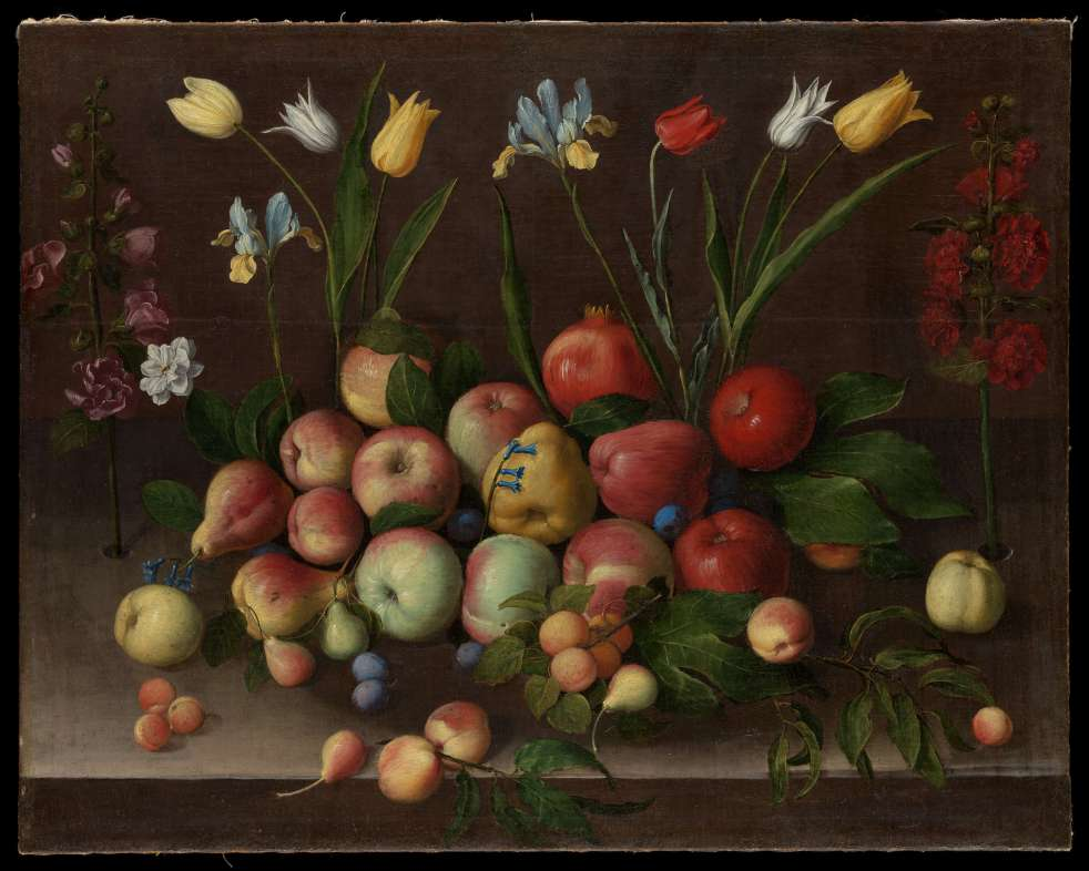 Fruit and Flowers by Orsola Maddalena Caccia